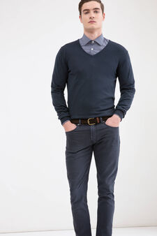 Rumford 100% cotton pullover, Dark Blue, hi-res