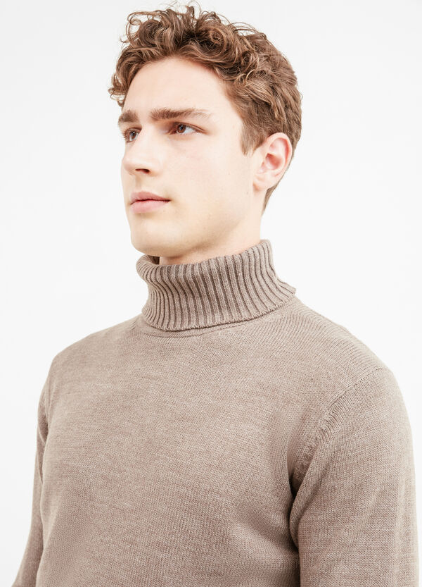 Solid colour pullover with high neck | OVS