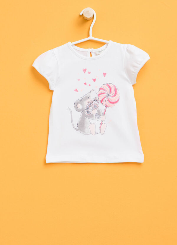 T-shirt with puff sleeves | OVS