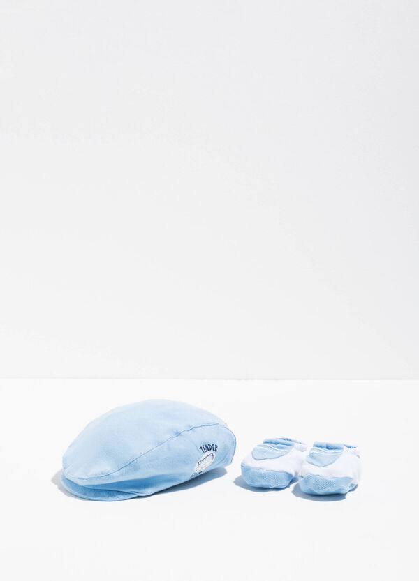 Cap and baby shoes set | OVS