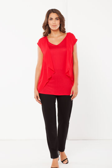 Curvy blouse, Red, hi-res