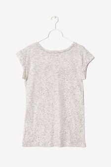 T-shirt smanicata con stampa, Grigio melange, hi-res