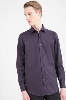 Cotton shirt with regular fit, Plum, hi-res