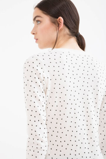 Polka dot cardigan in 100% cotton