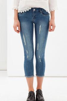 Worn-effect skinny jeans, Medium Wash, hi-res