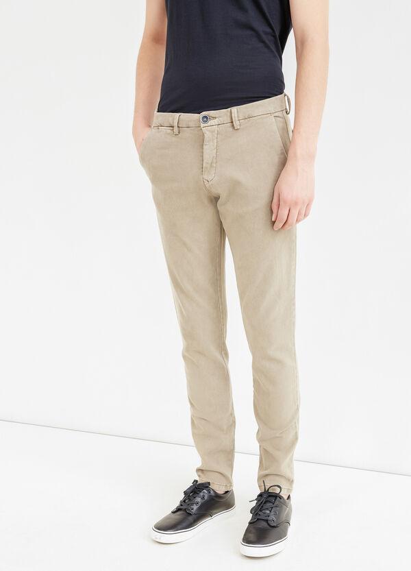 Pantaloni chino slim fit cotone stretch | OVS