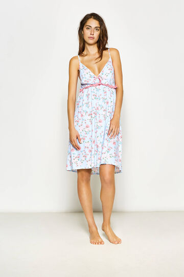 Floral patterned sleeveless nightshirt