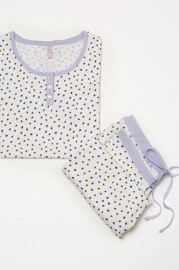 100% cotton pyjamas with hearts, White, hi-res