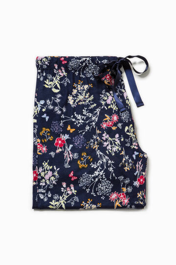Floral pyjama trousers with flounce