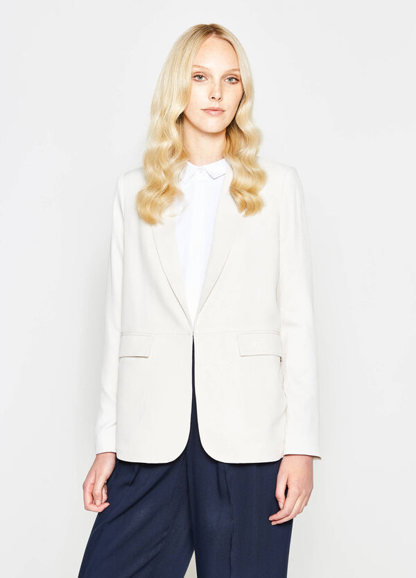 Blazer in pura viscosa con revers | OVS