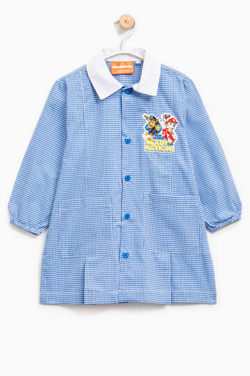 Check smock with Paw Patrol patch, White/Blue, hi-res