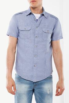 Camicia con taschini, Azzurro, hi-res