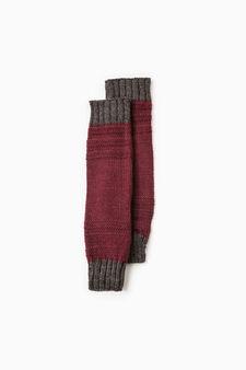 Scaldamuscoli tricot tinta unita, Rosso bordeaux, hi-res