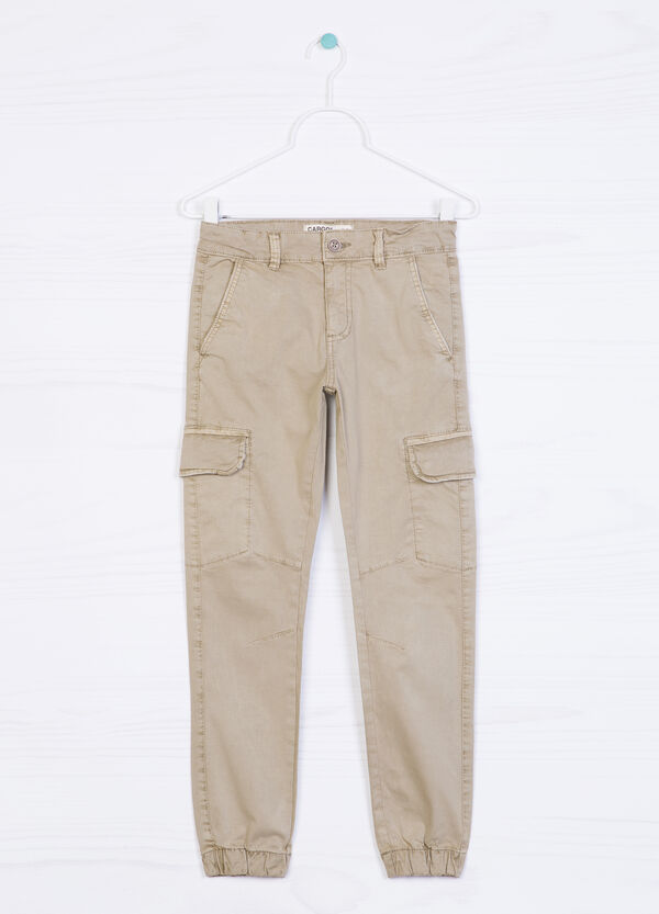 Pantaloni cargo in cotone stretch | OVS
