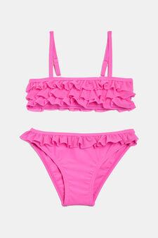 Bikini stretch balze, Rosa fuxia, hi-res