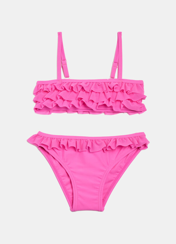 Stretch bikini with flounces. | OVS