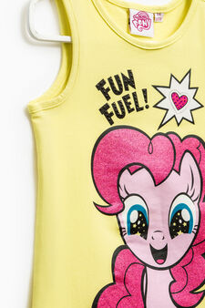 My Little Pony printed top with glitter, Neon Yellow, hi-res