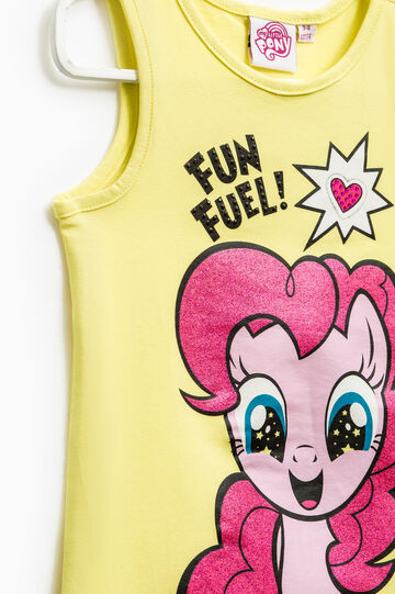 Top stampato My Little Pony strass, Giallo fluo, hi-res