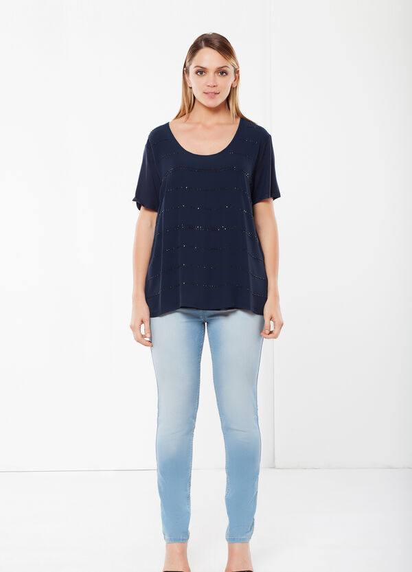 Curvy T-shirt with sequins | OVS