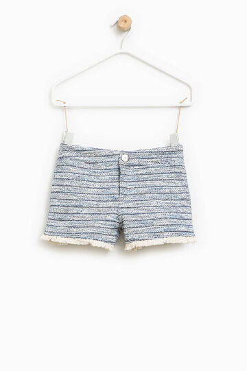 Cotton knitted shorts, Blue/Light Blue, hi-res