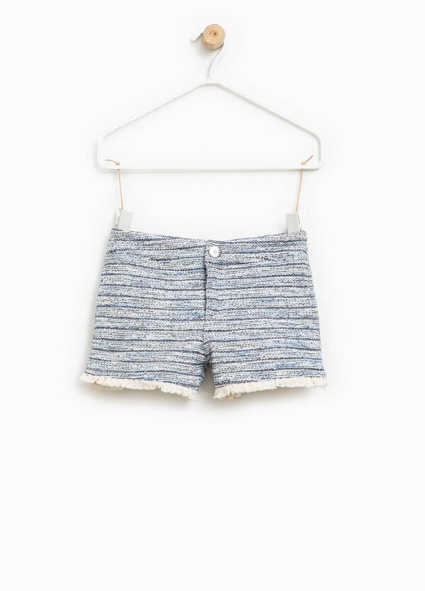 Shorts en punto tricot de algodón | OVS