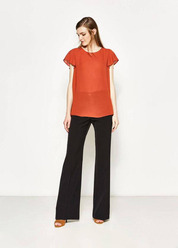 Semi-sheer satin blouse | OVS