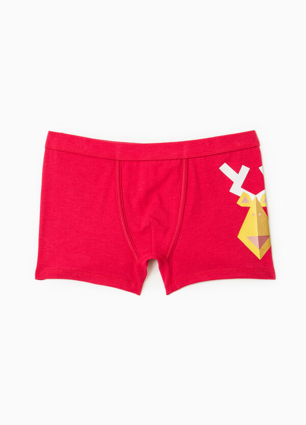 Stretch cotton printed boxers | OVS