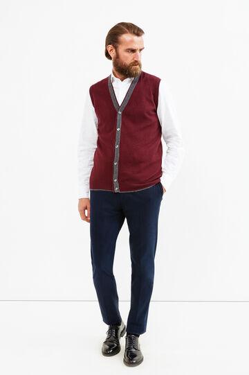 Gilet Rumford in lana e cashmere, Rosso bordeaux, hi-res