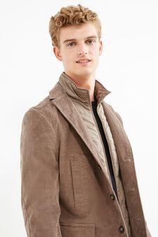 Elegant stretch cotton jacket, Dove Grey, hi-res