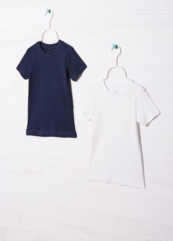 Set due t-shirt cotone tinta unita | OVS