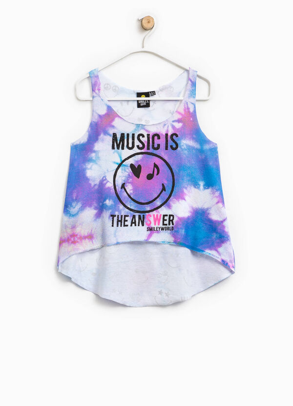 Crop top with all-over Smiley print | OVS