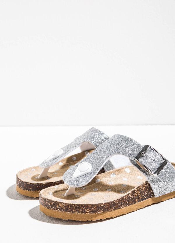 Sandali a pois con fasce glitterate | OVS