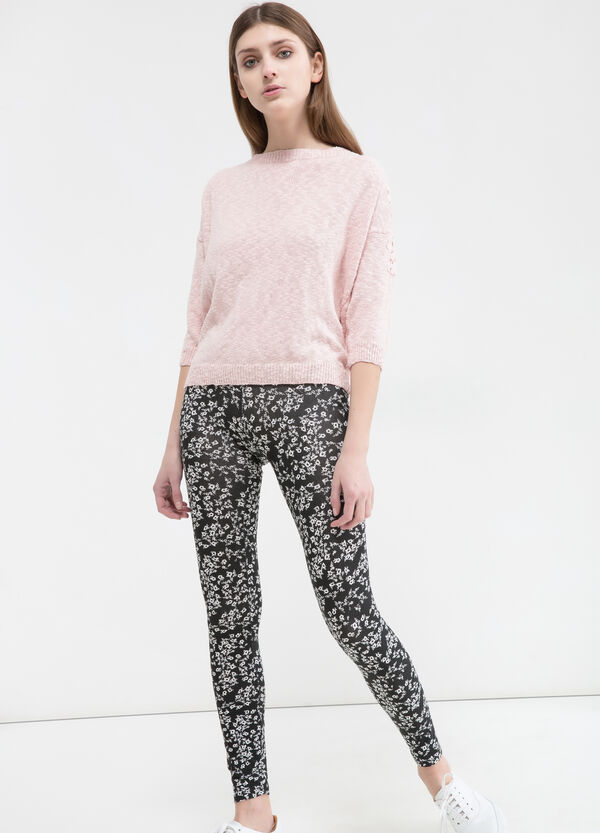 Leggings stretch fantasia floreale | OVS