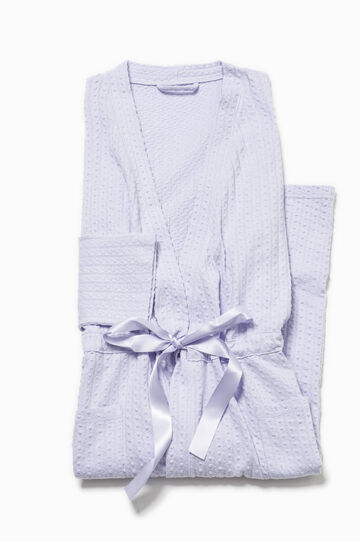 Dressing gown with drawstring