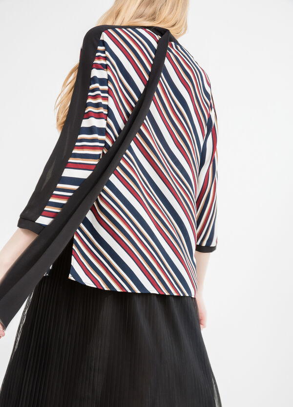 Stretch blouse with all-over striped print | OVS