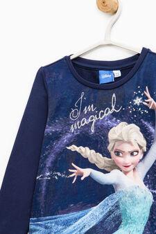 Cotton dress with Frozen maxi print, Blue, hi-res