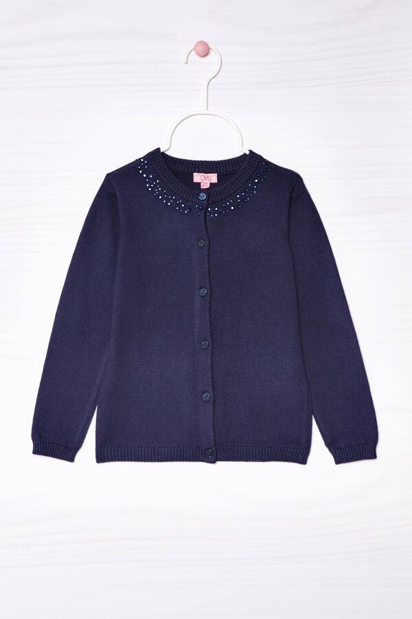 Cotton blend diamanté cardigan | OVS
