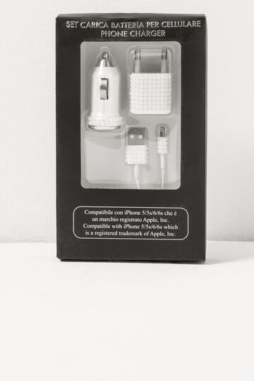 Battery charger set for iPhone, White, hi-res