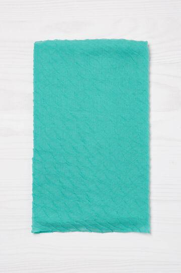 Sciarpa plissettata tinta unita, Azzurro acqua, hi-res