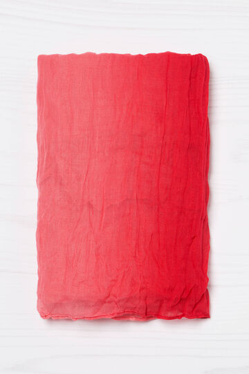 Crumpled, degradé scarf, Red, hi-res
