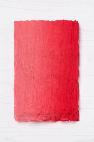 Sciarpa degradé stropicciata, Rosso, hi-res