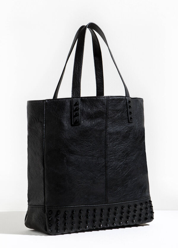 Solid colour shopping bag with studs | OVS