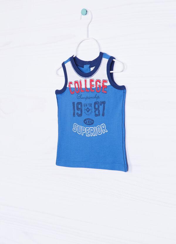 100% cotton vest with lettering | OVS
