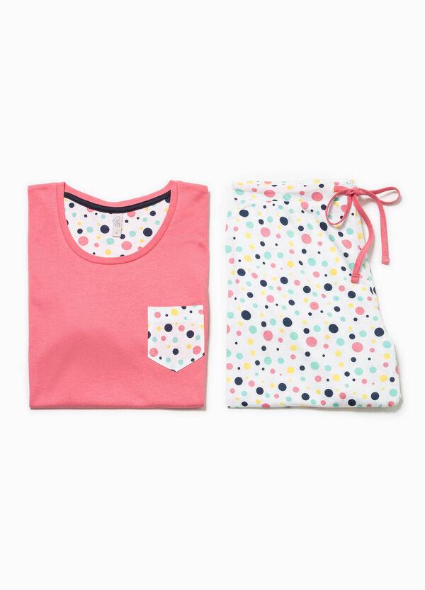 Cotton pyjamas with polka dot pattern | OVS