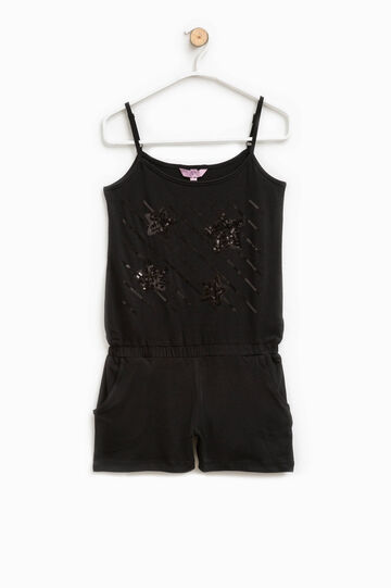 Cotton pinafore with sequins