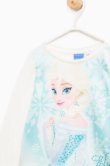 Maxi Frozen print cotton T-shirt, Cream White, hi-res