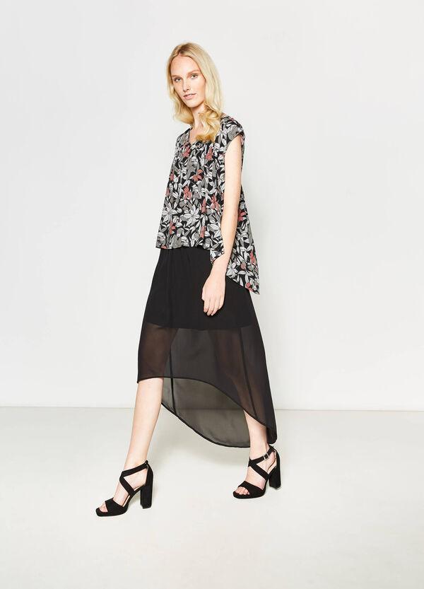 Blusa plisada con estampado floral | OVS
