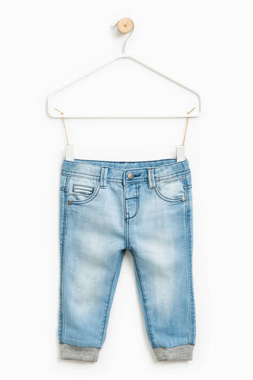 Worn-effect jeans with whiskering, Light Wash, hi-res