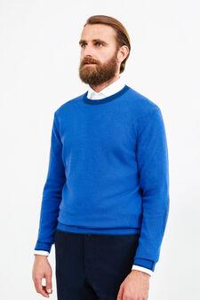 Pullover Rumford misto cashmere, Blu, hi-res