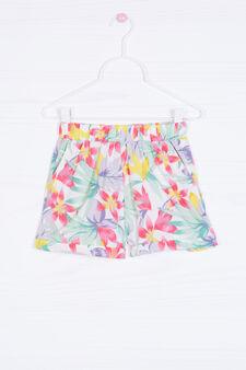 Multi-coloured floral pattern shorts, Multicolour, hi-res